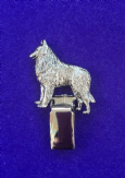 Dog Show Breed Ring Number Clip - Belgian Shepherd Dog - FULL BODY Silver or Gold Style